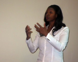 Jo-Ann James talking about exercise and osteoporosis at The Big Carrot  January 30, 2014.